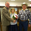 Lafayette County Judge Darren K. Jackson had the honor of installing this year's Pioneer Days Granny and Pappy 2012-13, Jackie and Bill Hart, at the Lafayette County Courthouse on Monday, Oct. 8, 2012. Pioneer Days was Friday and Saturday, Oct. 12-13, 2012 in downtown Mayo.