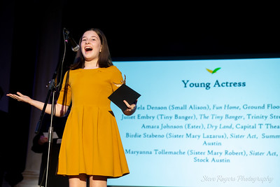 b. iden payne awards - Mariela Denson receives the Young Actress award for featured role