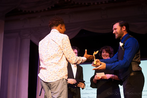 b. iden payne awards - Jayden Wallace receives the Young Actor award for featured role