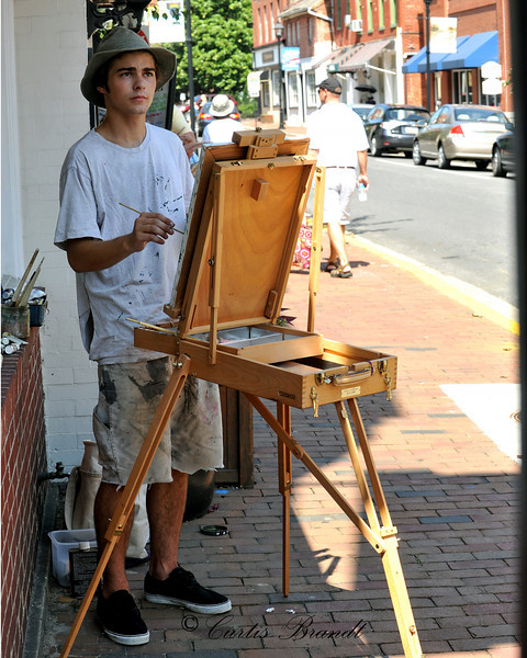 Will Kelly, 19 of Centreville painting on Dover Street, Easton, Md<br /> <br /> Honorable mention : Quick Draw:  The Next Generation