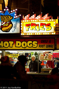 Food vendors at the Ice Festival