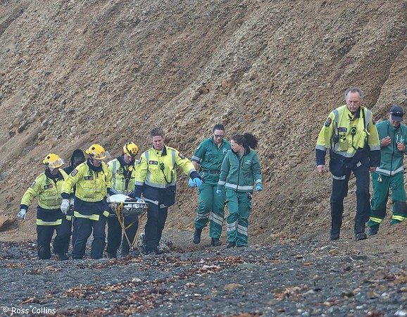 Point Dorset Cliff Rescue, Wellington, 9 March 2020
