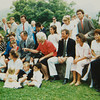 1988 Bush family photo after church in Kennebunkport, Maine