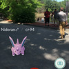 A Nidoran can be seen at Coggshall Park in Fitchburg on Tuesday afternoon. SENTINEL & ENTERPRISE / Ashley Green