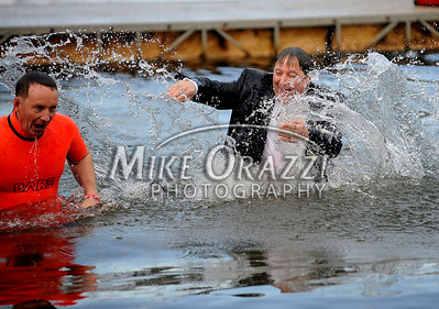 1/19/2013 Mike Orazzi | Staff The 8th Annual Camp Sloper Polar Bear Plunge on Saturday in Southington.