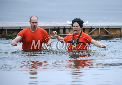 1/18/2014 Mike Orazzi | Staff The Ninth Annual Southington YMCA Polar Plunge on Saturday at Camp Sloper in Southington.