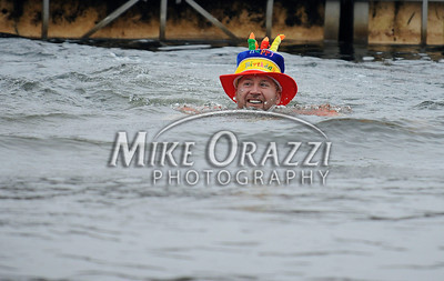 1/18/2014 Mike Orazzi | Staff Jason Coppola at the Ninth Annual Southington YMCA Polar Plunge on Saturday at Camp Sloper in Southington.