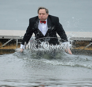 1/18/2014 Mike Orazzi | Staff Al Natelli at the Ninth Annual Southington YMCA Polar Plunge on Saturday at Camp Sloper in Southington.