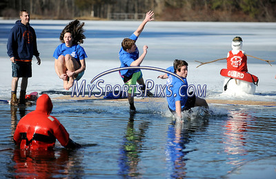 1/16/2010 Mike Orazzi | Staff The 5th Annual YMCA Polar Plunge at Camp Sloper in Southington on Saturday.