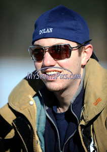 1/16/2010 Mike Orazzi | Staff Southington firefighter Joe Dolan gets ready to take the polar plunge at Camp Sloper in Southington on Saturday.