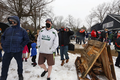 Polar plunge to benefit Special Olympics, at the Shoreline Beach Club in Tyngsboro. (SUN/Julia Malakie)