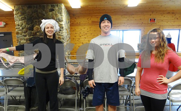 Jesse Albrecht, Nick Montgomery, and Chelsie Koneche. Team: Everyone is the same when they are out to dry.