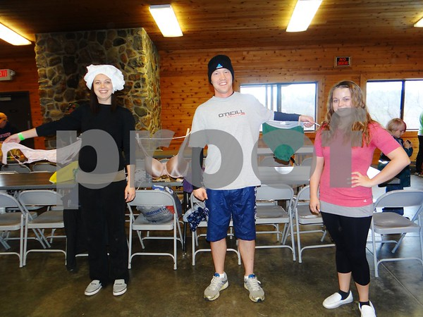 Jesse Albrecht, Nick Montgomery, and Chelsie Koneche.