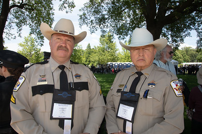Corporal Henderson and Deputy Ortiz of the Waller County Texas Sheriff's Dept. (photo by Jeff Malet)