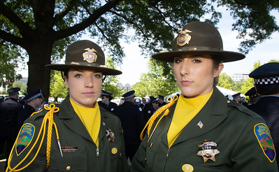 Donna Brickell and Misty Wichman from the Marin County (Calif.) Sheriff's Department