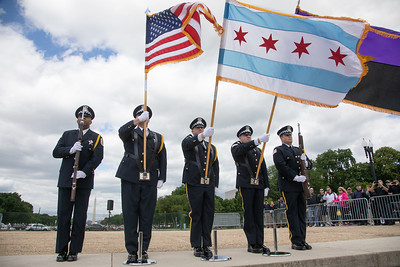 Chicago Police Honor Guard. (Photo by Jeff Malet)