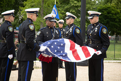 Union Township (Ohio) Police Department Honor Guard (photo by Jeff Malet)