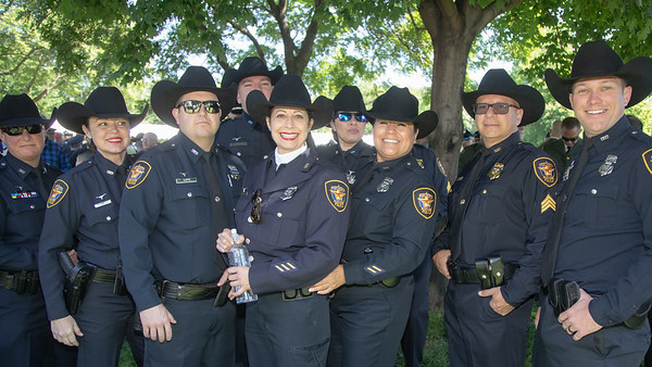 Members of the Fort Worth Texas Police attend the Memorial Service on the West Capitol Lawn. (photo by Jeff Malet)