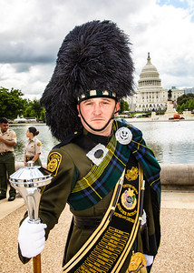 Drum Major Jeffery Swanson of the U.S. Border Patrol Pipes and Drums Band (photo by Jeff Malet)