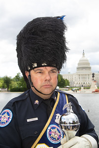 Drum Major William Schield of the Chicago Police Department Pipes and Drums (Photo by Jeff Malet)