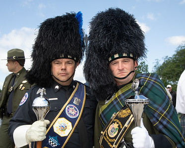 Drum Major William Schield of the Chicago Police Department Pipes and Drums; Drum Major Bill Schield of the Chicago Police Department Pipes and Drums (Photo by Jeff Malet)