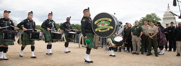 Los Angeles Police Emerald Society Pipes and Drums (photo by Jeff Malet)