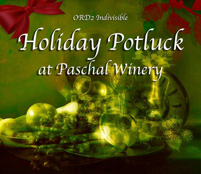 Holiday Potluck at Paschal winery
