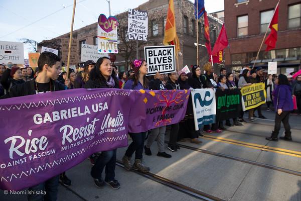 Womxn's March in Seattle