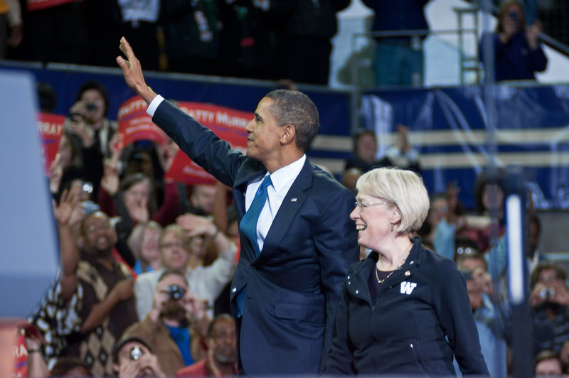 President Barack Obama and Senator Patty Murray<br /> President Barack Obama and Senator Patty Murray