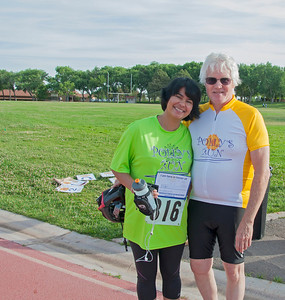 With Polly Roger's husband. He and his sons organize Polly's Run every year to honor Polly who died of pancreatic cancer. It was a pleasure to meet him....