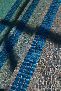 Decorative glass tile after filling