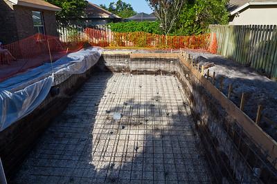 Rebar and drain plumbing done