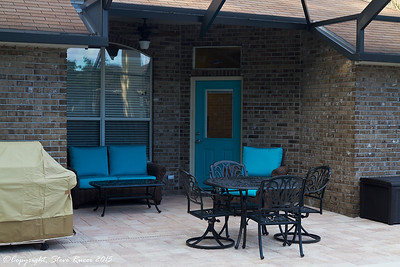 New patio furniture to complete the area