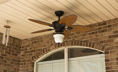 New outdoor ceiling fan that I installed to make things nicer on the patio