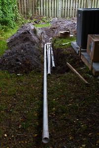 Plumbing going in