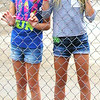 Debbie Blank | The Herald-Tribune<br /> Hope Kroen (left) and Allie Savage, two Batesville 9-year-olds, had to decide: To swim or not to swim?