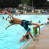 "Debbie Blank | The Herald-Tribune<br /> Around 6:30 p.m., at least one daredevil amused the crowd during the nine-hour city-sponsored party at Batesville Memorial Pool last Friday, Aug. 8. Please see more photos on page 7 and also on our Web site at  <a href=""http://www.batesvilleheraldtribune.com"">http://www.batesvilleheraldtribune.com</a>. Click on Photo Galleries, Events, Pool Party 2014."