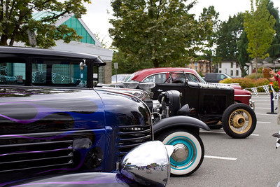 Classic cars on display at PoCo Rec Complex. Port Coquitlam Homecoming weekend, August 17, 2013. Free concerts at Leigh Square and PoCo Rec Complex.