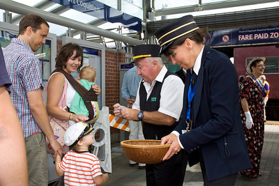 Vintage CPR train rides, Port Coquitlam 2013 Homecoming celebration