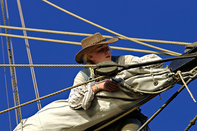 Working on the Lady Washington, Wooden Boat Festival 2006.