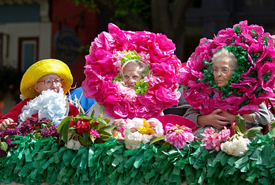 Flowers in the parade.   Rhody Festival 2009.
