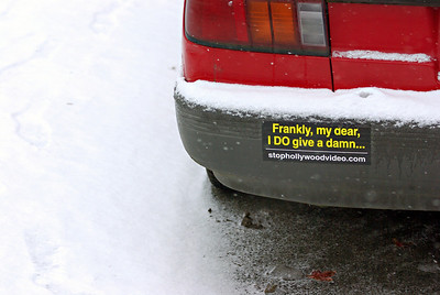 No ordinary bumper sticker
