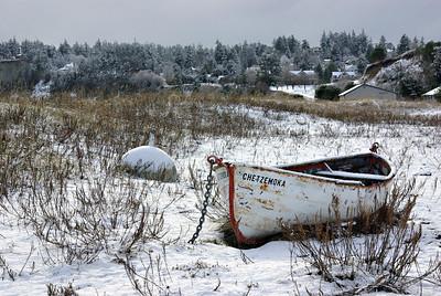 "The Chetzemoka ""weathers"" on... Fort Worden State Park 18Jan12"