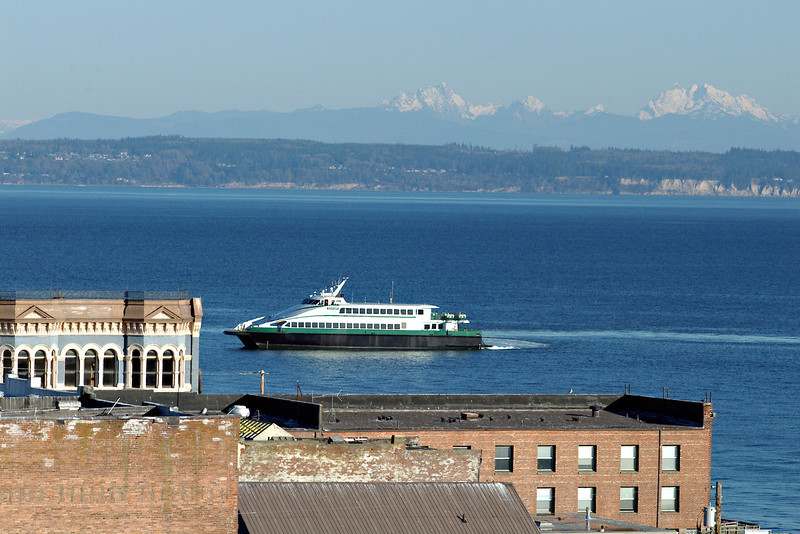 Passenger ferry Snohomish in town for sea trials, after the <br /> car ferries were deactivated.<br /> 2007