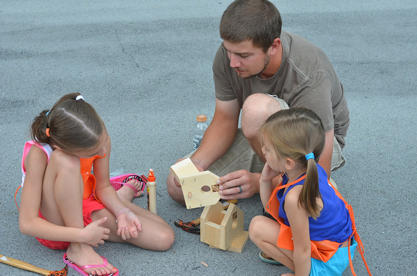 Festival goers at Saturday's 23rd Annual Portage Area Summerfest got the supplies and tools to build and decorate their own birdhouses from Home Depot.