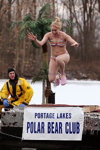 The 6th annual Polar Bear Jump was held at Portage Lakes State Park to raise funds for the Akron-Canton Regional Foodbank on Saturday Feb 21, 2009 in New Franklin, Ohio. Photo By Lew Stamp, PhotoStamp@sbcglobal.net