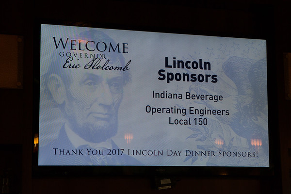 Porter County GOP - Lincoln Day Dinner - Governor Holcomb Visit - May 2017