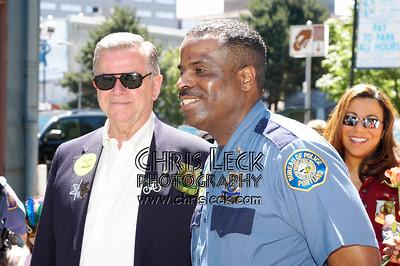 Portland Mayor Tom Potter with Police Chief Derek Foxworth.