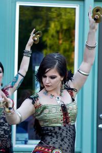 Belly Dancers, Street Performance, Portland, Oregon ref: 79f52d5b-ffd1-4104-834e-7b2069399a56