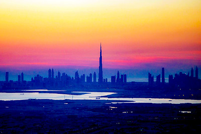 Imagining Dubai at nightfall